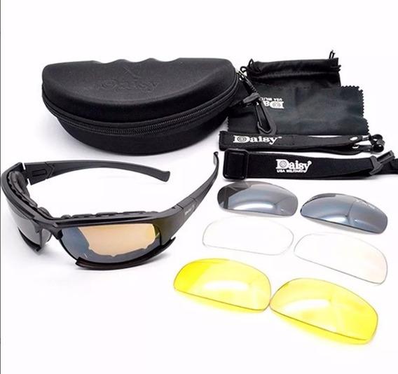 Lentes Tácticos Goggles Militar Motociclismo Daisy X7 4micas