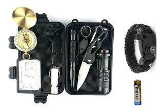 Kit W-001 Emergencia Campamento Supervivencia Preppers Edc