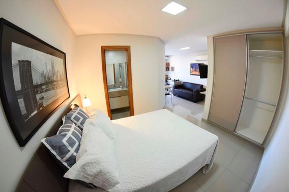 Setor Bueno, Flat Mobiliado, Para Alugar, Pronto Para Morar