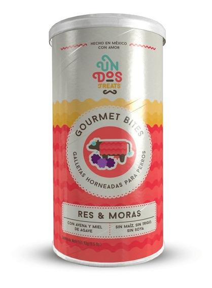 Galletas Para Perros Gourmet Bites Res Y Moras De 5.5 Oz