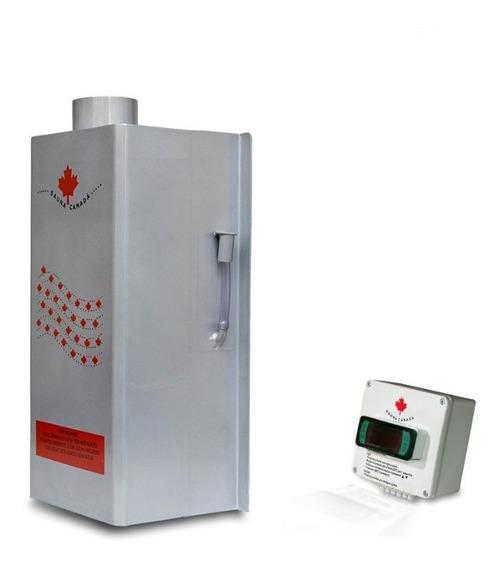Sauna Gás Canadá 10m3 Ctrl Analóg + Kit Instalação + Chaminé