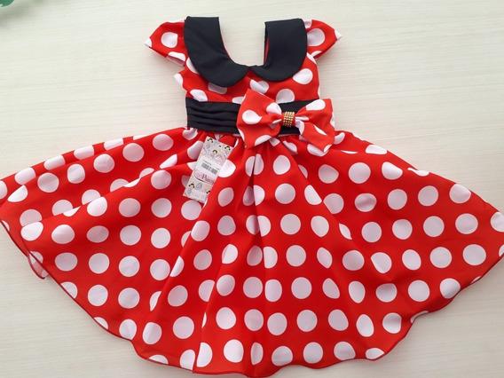 Vestido Festa Minnie Vermelho