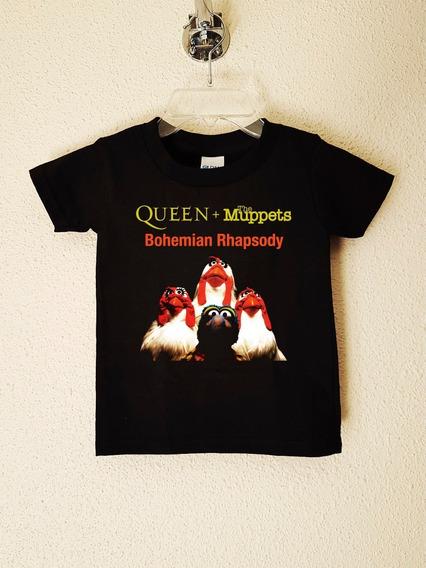 Polera Niños Queen Muppets Rock Clásico Progres Abominatron