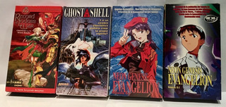 Lote 4 Vhs Evangelion Ghost In The Shell Records Of Lodoss