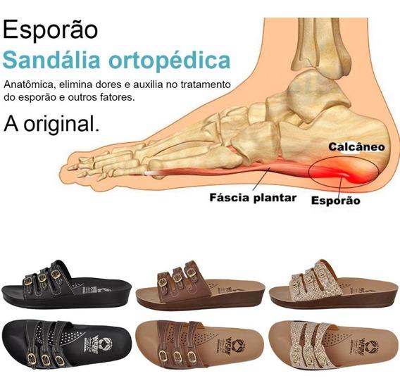 3 Pares Chinela Sandália Anatômica Ortopédica Para Esporão