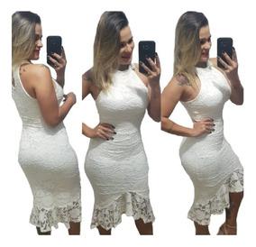 656c4b6b34df Vestido Branco Renda - Vestidos Femeninos em Santo André com o ...