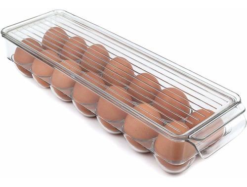 Imagen 1 de 2 de Greenco - Huevera Apilable Con Tapa, 14 Huevos, Transpare