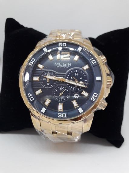 Relógio De Pulso Masculino Megir