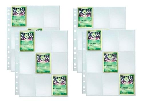 40 Folhas Plásticas 9 Bolsos Yes Para Álbum Pokemon/magic
