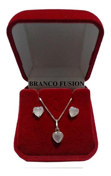 Cordão De Prata Conjunto Feminino Lindo Sofisticação E Luxo