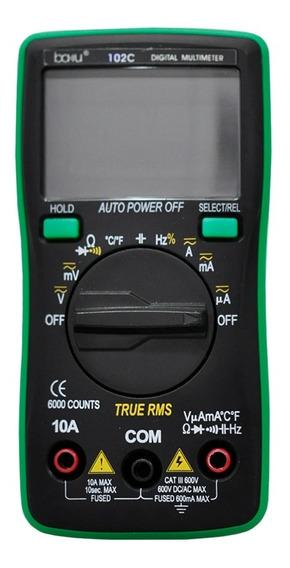 Multímetro Digital Baku Ba102c Trms Capacitancia Temperatura