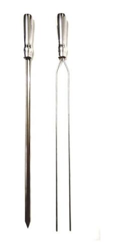 Espeto Churrasqueira Inox  70cm - Duplo E Espada