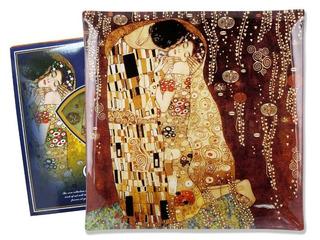 Plato En Cristal Cuadrado 25 Cm El Beso Klimt