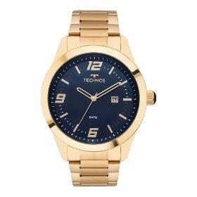Relógio Techno Masculino Dourado