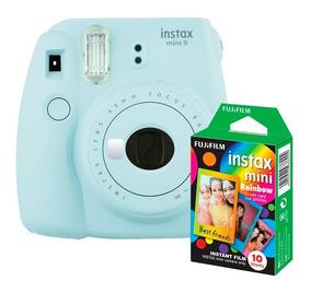 Câmera Instantânea Instax Fujifilm Mini 9 Aqua + Filme 10