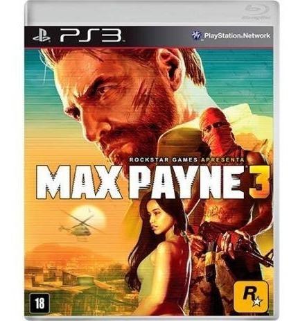 Jogo Max Payne 3 - Original - Ps3 Mídia Física