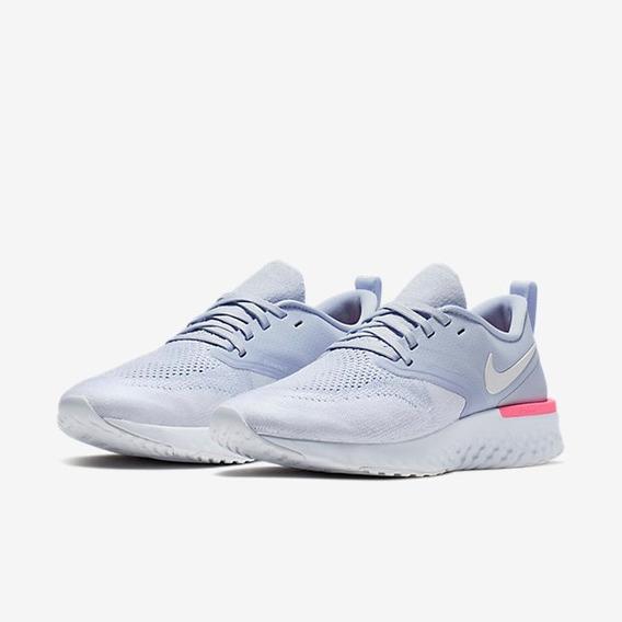 Tênis Feminino Nike Odyssey React 2 Flyknit Azul Original