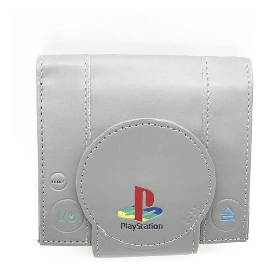 Cartera Playstation Play Station Ps1 Gris Bioworld
