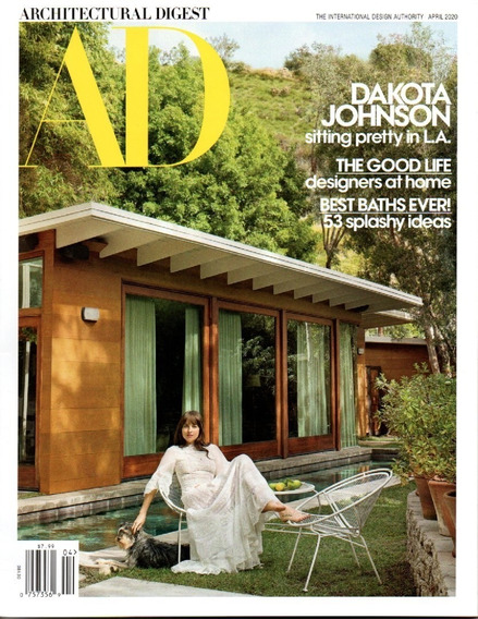 Ad Architectural Digest - Revista Decoração Dakota Johnson