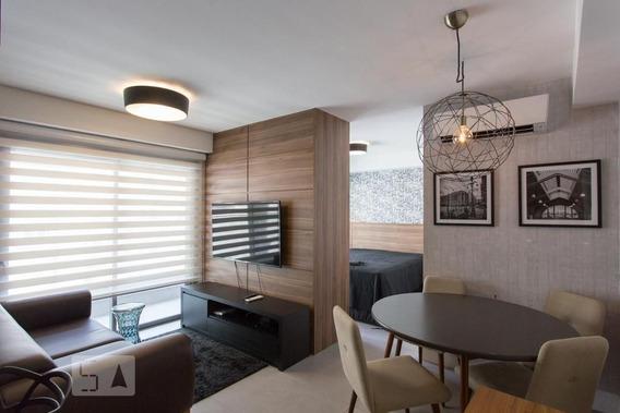 Studio No 7º Andar Mobiliado Com 1 Dormitório E 1 Garagem - Id: 892993054 - 293054