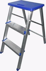 Escada Banqueta Alumínio Alumasa 3 Degraus Dobravel