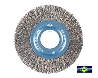 Escova Circular Em Aço Fio 0,38mm 6 X 3/4 Pol. Brasfort-7241