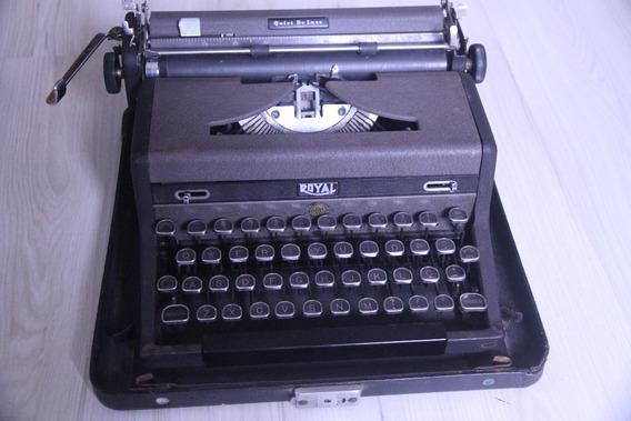 Maquina De Escrever Royal Muito Antiga Funcionando