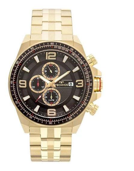 Relógio Technos Masculino Chrono Dourado Js15fc4p