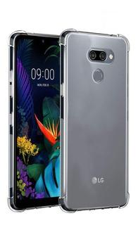 Capinha Silicone Antichoque E Película Vidro LG K12 Prime