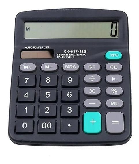 Calculadora De Mesa Display 12 Digitos + Pilha Brinde