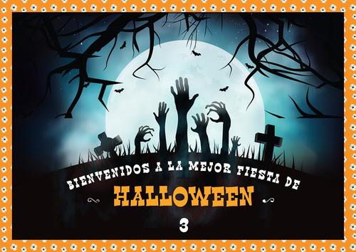 Halloween 3 Kit Imprimible Personalizado Incluye Candy Bar