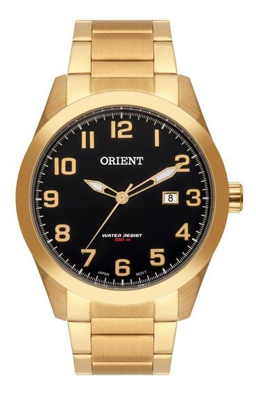 Relógio Orient Masculino Mgss1180 P2kx Preto Dourado
