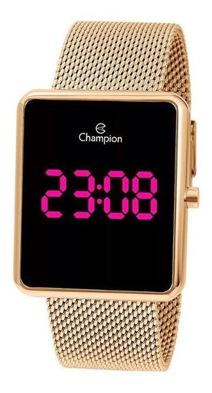 Relógio Champion Original Digital Dourado Unissex Ch40080h