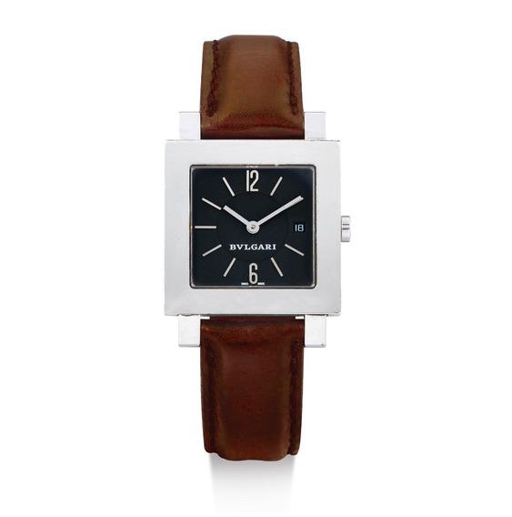 Relógio Bvlgari Quadrado Unissex Em Aço Bulgari Original