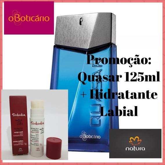 Quasar 125ml O Boticário + Hidratante Labial Natura + Brinde
