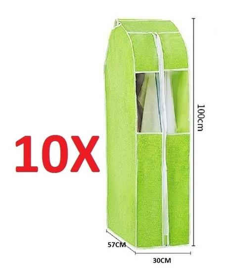 Kit 10 Organizador Porta Vestido Paleto Terno Camisa Guarda