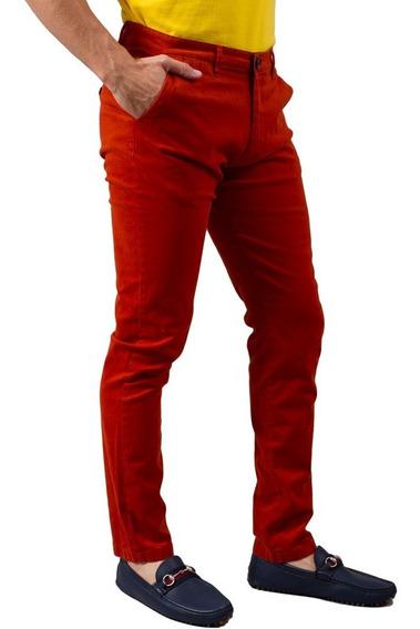 Pantalon Sr. Marino Gabardina Algodon Ladrillo Cm-16
