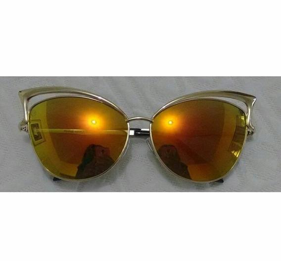 Óculos Espelhado Dourado