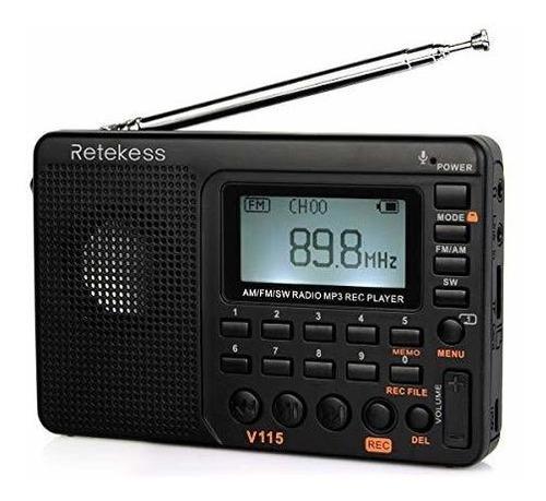 V115 Radio Am Fm Portátil Con Radio Transistor Reproductor