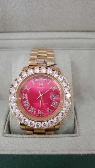 Relógio Rolex Oyster Perpetual Day-date Automático Vermelho