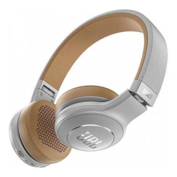 Fone de ouvido sem fio JBL DuetBT cinza e marrom