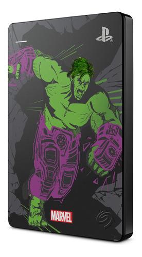 Imagen 1 de 2 de Disco 2tb Seagate Game Drive Ps4 Edición Especial Hulk