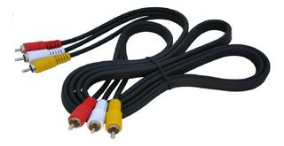 Cable 3x3 Rca De 1.5 Metros Audio Vídeo