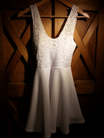 Vestido Blanco De Fiesta, 15, Egresados,etc.,