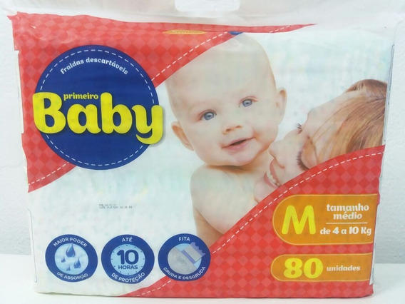 Fralda Descartável Primeiro Baby Embalagem Hyper 10hr Prot
