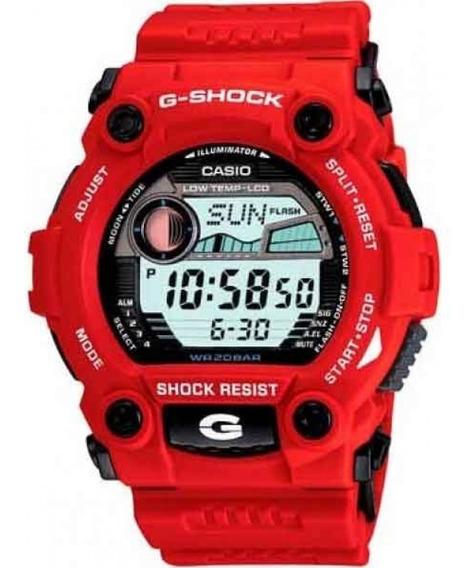Relógio Casio G-shock Tábua De Maré G-7900a-4dr * G-rescue