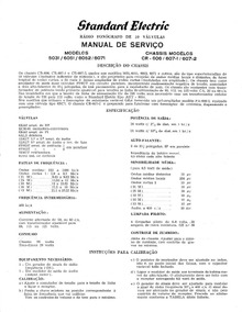 Standard Electric Esquemas E Diagramas