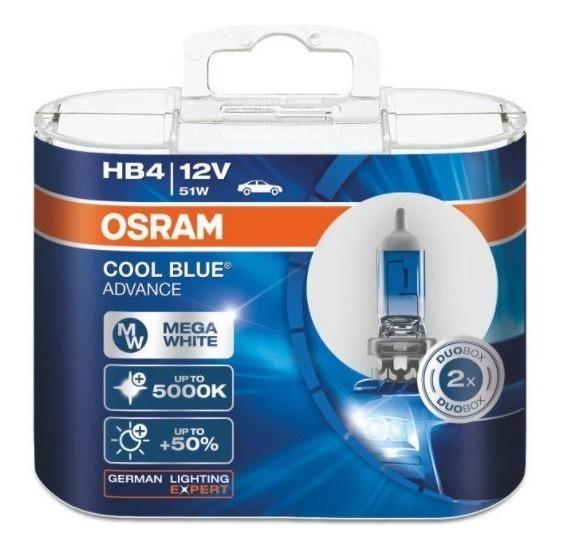 ( Veja Original ) Osram Cool Blue Advance 5000k Hb4 Garantia