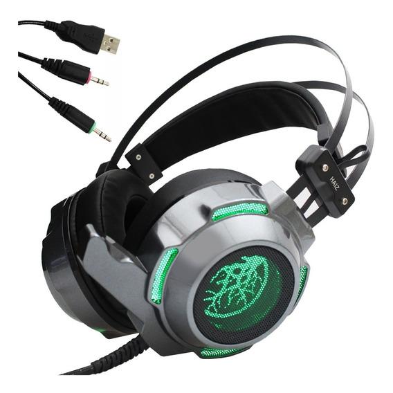 Fone Headset Gamer Haiz 9200 Luz Led Som Ultrabass Microfone