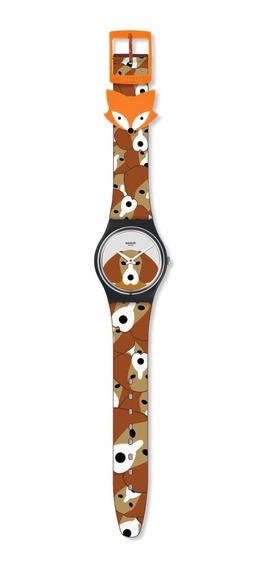 Reloj Swatch Para Niño Estampado De Perritos Beagle